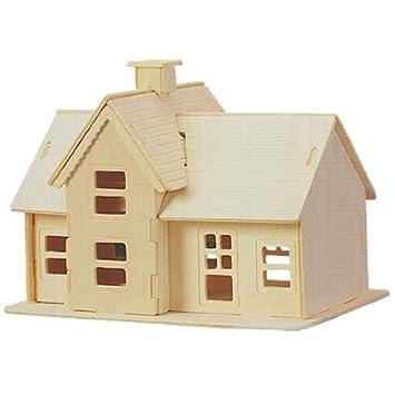 sodial(r) kit de construction/puzzles 3d de modele de maison de ... - Jeux De Construction De Maison Gratuit 3d