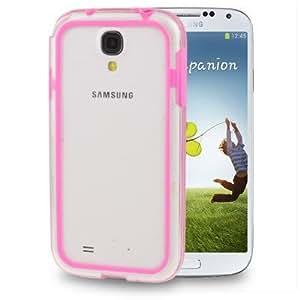 Carcasa tipo Bumper para Samsung Galaxy S4 plástico, color rosa translúcido