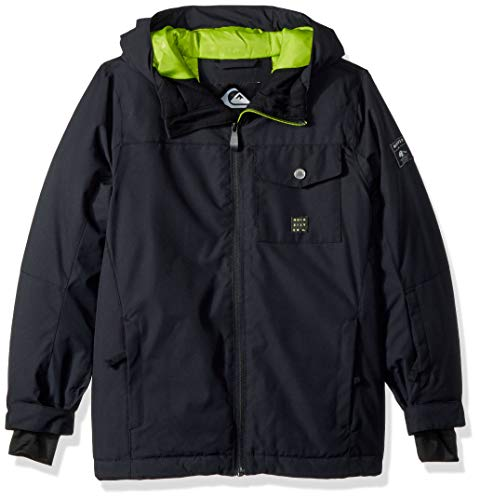 Quiksilver Boys' Big Mission Solid Youth 10K Snow Jacket, Black, ()