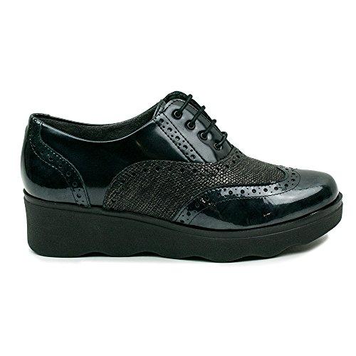 PITILLOS con NEGRO Zapato mujer 1321 cordones RRqfrwF