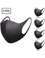 5 Pcs Dust Mask, Washable Cotton Face Mask With Adjustable Straps Mask For Kids Man And Woman