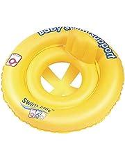 مقعد السباحة بحلقتين للأطفال من بيست واي 32027، أصفر