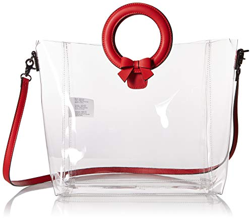 Betsey Johnson Clear Cut Choice Tote,  red, One ()