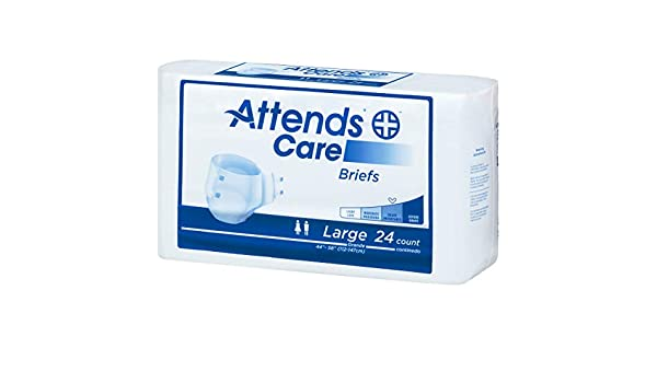 Amazon.com: Attends 30443100 Incontinent Brief Homecare Extra Absorbent Breathable Briefs Tape Tabs Large Disposable Moderate Absorbency Brhc30 Box Of 72: ...
