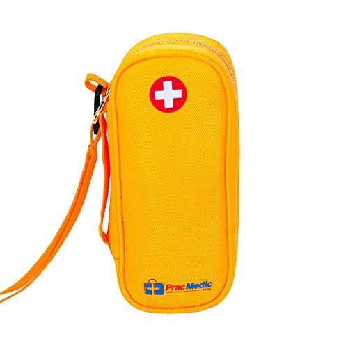 (PracMedic EPIPEN Carrying Case - Holds 2 Epi Pens or Auvi-Q, Asthma Inhaler, Generic Benadryl Small, Nasal Spray, Eye Drops, Medicine, Vials, Syringes, Ice Pack- Sold Empty)