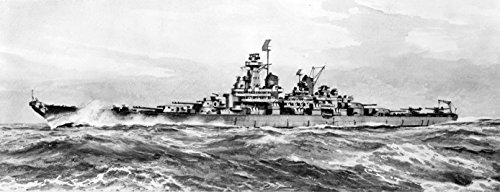 (Home Comforts Laminated Poster Artist's Conception of The U.S. Navy Montana-Class Battleships (BB-67 to BB-71) Whose Construction w Vivid Imagery Poster Print 24 x 36)