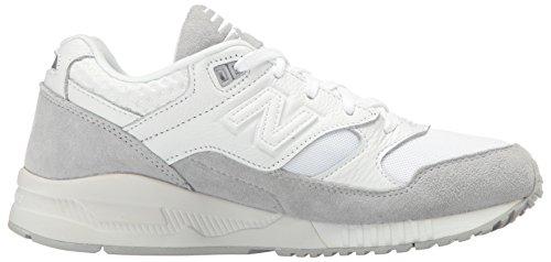 Nuovo Equilibrio Donna 530 Anni 90 Running Lifestyle Fashion Sneaker Visone Bianco / Argento