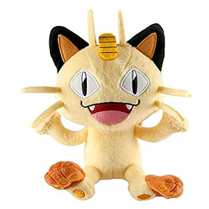 Amazon Com Pokemon Meowth 7 Inch Plush Stuffed Animal Toys Games