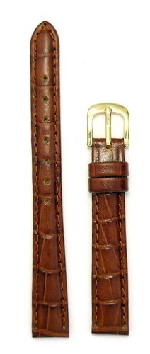 Grain Ladies Watch Band (Ladies Alligator Grain Leather Watchband Tan 12mm Watch Band - by JP Leatherworks)