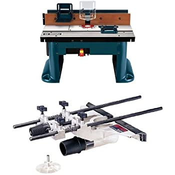 Bosch ra1181 benchtop router table amazon bosch benchtop router table with deluxe router edge guide with dust extraction hood vacuum hose adapter greentooth Image collections