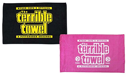 Official Pittsburgh Terrible Towels - One Pink - One Black from Little Earth