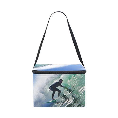 Para Picnic Fiambrera Hombro Almuerzo Surfer Bolsa Tubo En De Correa Wave Sunny Cooler On RgzxzZ