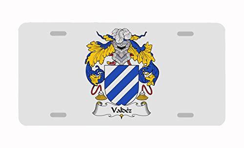 (Carpe Diem Designs Valdez Coat of Arms/Valdez Family Crest License/Vanity Plate - Made in The U.S.A)