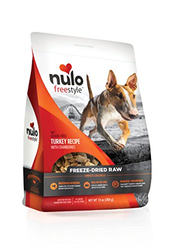 Nulo Freeze Dried Raw Dog Food For All Ages & Breeds: Natural Grain Free Formula With Ganedenbc30 Probiotics For Digestive & Immune Health - Turkey Recipe With Cranberries - 13 Oz Bag