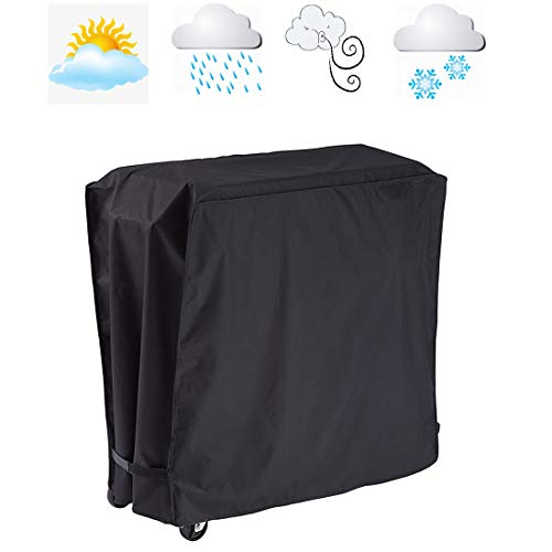 FLR Black Cooler Cover Universal Waterproof Durable Rolling Cooler Patio Cooler Cover Protection Outdoor Beverage Cart Rolling Ice Chest Party Cooler