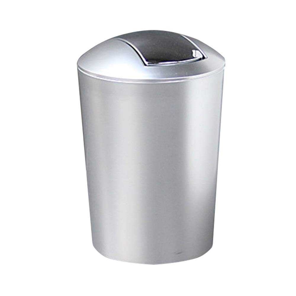 Trash can Can Wastebasket Garbage Plastic Small Trash Container Bin with Lid for Bathroom, Kitchen, Home Office Dorm Kids Room-2 Pack for Bathroom Kitchen Office Home Bedroom by Yuybei-Home