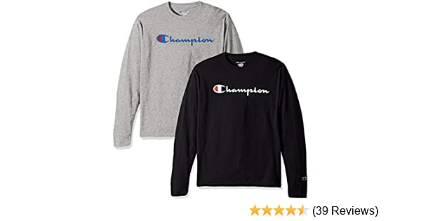 Champion Men's Classic Jersey Script T Shirt -3 Piece Bundle Includes 2  Shirts Free BE Bold Gym Tote Bag Genie Outlet