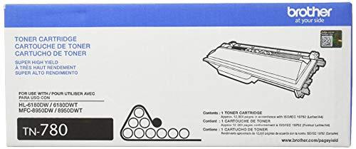 Brother Genuine TN-780 (TN780) Super High Yield Black Laser Toner Cartridge 2-Pack