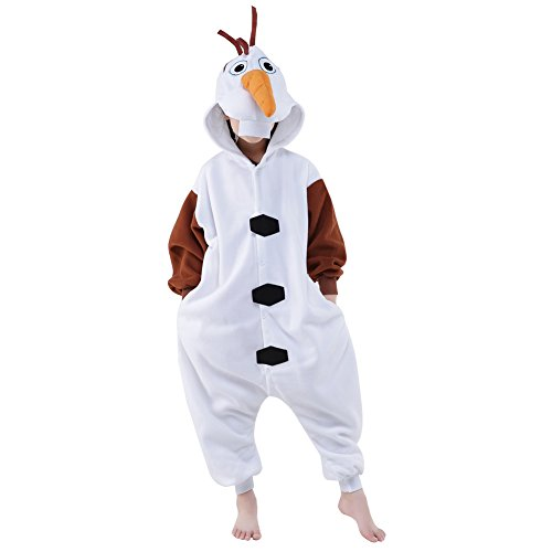 Olaf Child Costumes (Halloween Children Onesie Pajamas Cosplay Costume (105#, Olaf))
