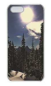 Case For Iphone 5/5S Cover landscapes nature snow sun 34 PC Custom Case For Iphone 5/5S Cover Cover Transparent