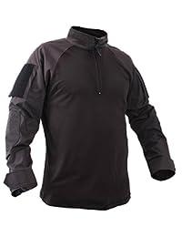 Rothco 1/4 Zip Military Combat Shirt - Black