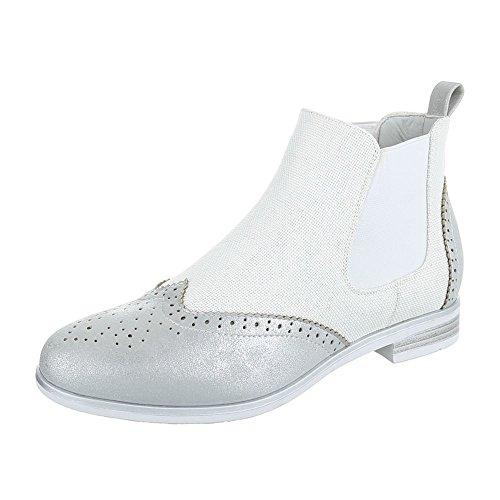 Ital-Design - Botas Chelsea Mujer plata