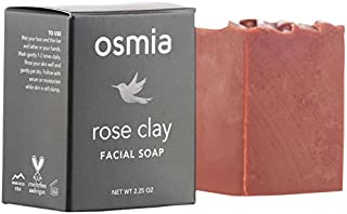 product image for Osmia Rose Clay Hydrating Facial Soap - Australian Pink Clay, Nourishing Coconut Milk, Avocado Oil & Organic Mango Butter - Hydrating Cleansing Bar for Face - Dry, Mature & Sensitive Skin (2.25 oz.)