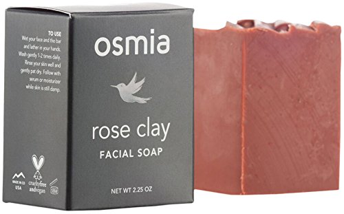 Osmia Organics - Rose Clay Facial Soap, 2.25 oz -