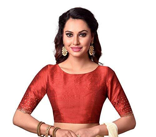 7e71d0c55fdd65 Studio Shringaar Women's Polyester Blouse: Amazon.in: Clothing ...