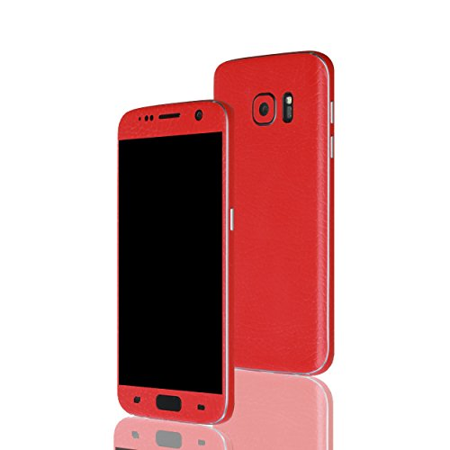 AppSkins Folien-Set Samsung Galaxy S7 Leather red