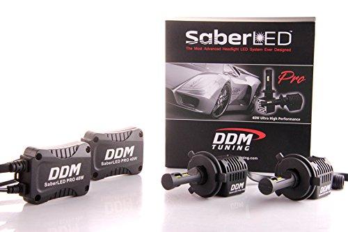 DDM Tuning 40W Saber Pro LED Headlight/Foglight, Philips Lumileds-C/MZ, 8000LM, 6000K, Pair, FBA (H4 Hi/Lo)