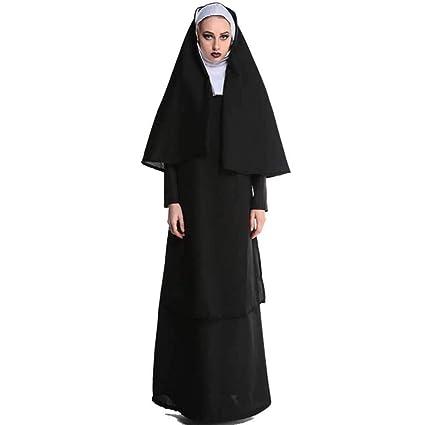 Li Vestido De Monja Mortal Monje Y Monja Disfraz De