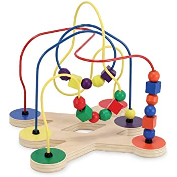 Amazon.com: Melissa & Doug Classic Bead Maze - Wooden Educational ...