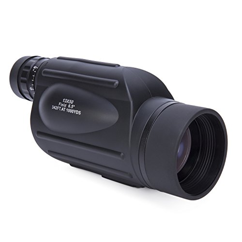 13x50 Monocular High Power Scope with Reticle for Rangefinder. For Hunting, Camping, Surveillance, Bird Watching or - Cost Bifocals Low