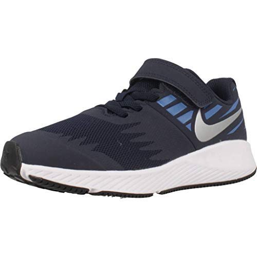 Mens Nike Jacket Field (NIKE Kids' Preschool Star Runner Running Shoes (3 Silver/Blue)❗️Ships directly from Nike❗️)