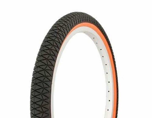 Tire Duro 20'' x 1.95'' Black/Orange Side bike tire, lowrider bike tire, lowrider bicycle tire, bmx bike tire,cruiser bike tire by Lowrider