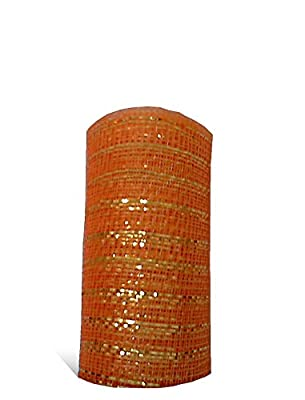 TMI Gifts Designer Netting, 10-Inch by 10-Yard, Citrus with Citrus Foil