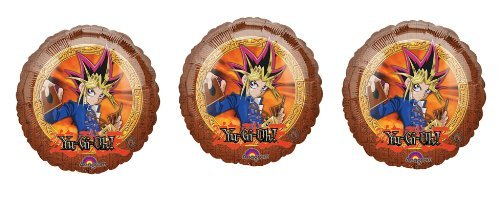 (3 Yu-Gi-Oh! Balloons - Multipack of Yu Gi Oh Mylar Balloons)