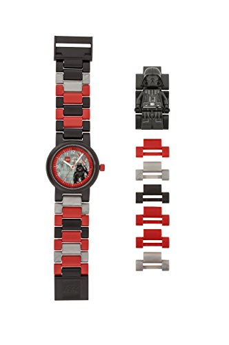 LEGO Watches and Clocks Automatic Plastic Casual Watch, Color:Black (Model: 8021018) (Darth Lego Vader Watch)