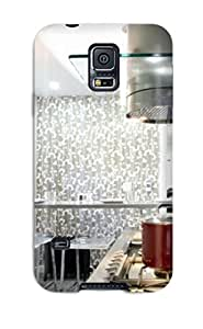For Galaxy S5 Perfect Protector Case Contemporary Gray And White Kitchen Phone Cover