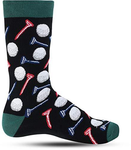 Cool Novelty Fun Socks For Men: Mens Funny Dress Socks: Crazy & Hobby Colorful Sock: Hobbies Gift Golf Golfing