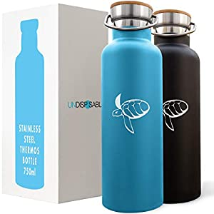 CARETTA – Stainless Steel Water Bottle, finances OCEAN PLASTIC REMOVAL, 350-750ml, Reusable Vacuum Insulated, Coffee Tea Milk Hot or Cold for a day, for adults and kids 4+ – Bpa Free and Leak Proof