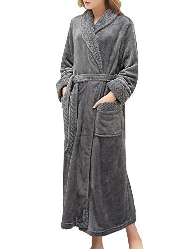 Robes Plush for Women Soft Kimono Bathrobes Full Length with Long Sleeves Winter