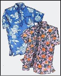 Amazon.com: Mens Hawaiian Pullover or Button Front Placket Aloha ...