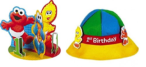 (Sesame Street 1rst Birthday Party Hat and Decorations Baby 1rst Birthday Hat Baby 1rst Birthday)