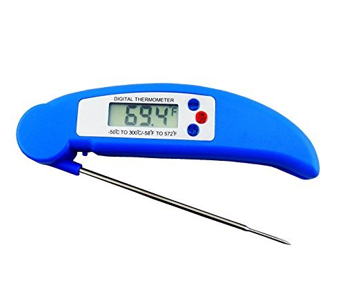 - Instant Read Meat Thermometer - Digital Meat Thermometer, Splash-resistant, For BBQ, Cooking, Baking and Much More (Blue)