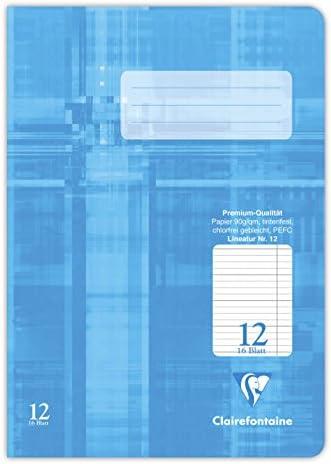 Clairefontaine 331512C Stenoheft (DIN A5, 14,8 x 21 cm, Premium 90 g, 16 Blatt) 1 Stück