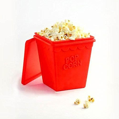 Popcorn Microwave Silicone Maker Healthy Popper Container Household Magic Tools Cooking Bowl New Air Collapsible Cooker Tool Cook Home Oil BPA and FDA Approved 100 percent  For Eating