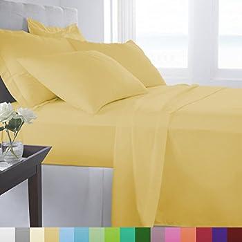 Supreme Super Soft 3 Piece Bed Sheet Set Deep Pocket Bedding   Twin Size  Straw