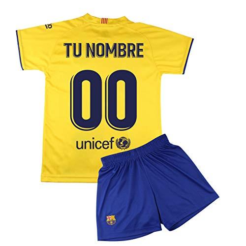 Champion's City Kit – Personalizable – Camiseta y Pantalón Infantil Segunda Equipación – FC Barcelona – Réplica…